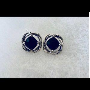 David Yurman 7 MM Black onyx earrings